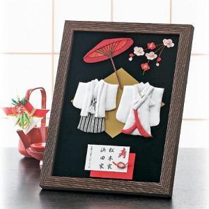 結婚式の和のウェルカムボード「エレガンス・和装」額付き手作りキットTAK-HW11|hanakobo-wedding