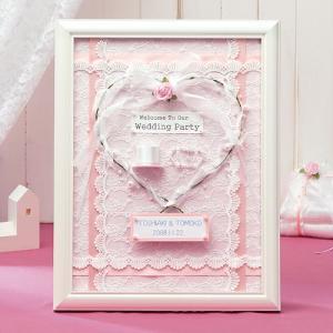 額付きキット「天使のウェルカムボード・ピンク 」結婚式、ウェディングにTAK-HW19|hanakobo-wedding