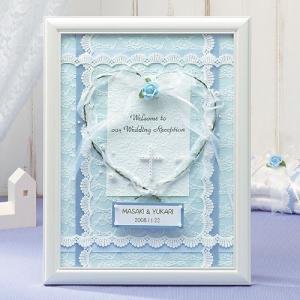 額付きキット「天使のウェルカムボード・ブル−」結婚式、ウェディングにTAK-HW20|hanakobo-wedding