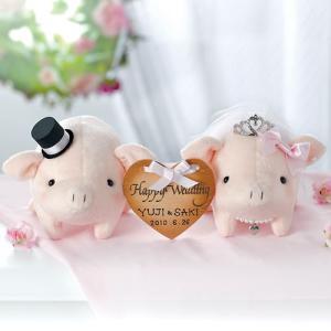 結婚式の手作りキット「ラブリーぶーちゃん・ピンク 」ハートプレート付きウェディングピッグTAK-PG2|hanakobo-wedding