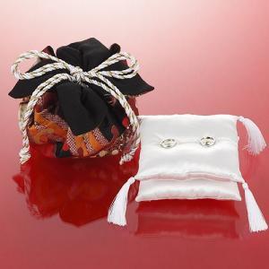 結婚式の手作りキット「モダンリングピロー・黒 」和のリングピローTAK-RP12|hanakobo-wedding