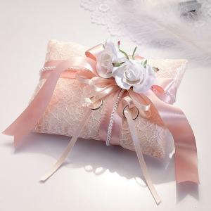 手作りキット【ドラマティックリングピロー・ホワイトローズ 】結婚式、ウェディングにTAK-RP13|hanakobo-wedding