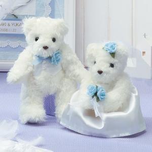 結婚式の手作りキット「天使のホワイトベア・ブルー」ウェディングベアTAK-TW2|hanakobo-wedding