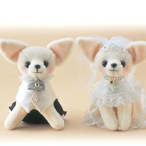 結婚式の手作りキット「スウイートチワワ/洋装」ウェディングドッグTAK-WW105|hanakobo-wedding
