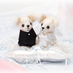 結婚式の手作りキット「チワワのリングピロー・洋装」ウェディングドッグのリングピローTAK-WW109|hanakobo-wedding