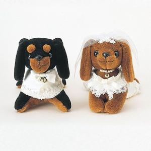 結婚式の手作りキット「ミニチュアダックス /洋装」ウェディングドッグTAK4489|hanakobo-wedding