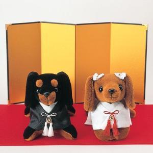 結婚式の手作りキット「ミニチュアダックス 」和装ウェディングドッグTAK4490|hanakobo-wedding