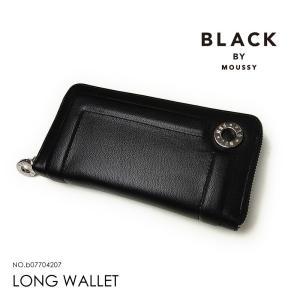 ブラックバイマウジー 長財布 BLACK BY MOUSSY  レディース b07704207 ラウンドファスナー|hanakura-kaban