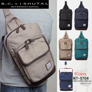 イシュタル ボディバッグ ワンショルダー B.C.+ISHUTAL BCイシュタル ケーテン ボディーバッグ ワンショルダーバッグ IKT-5704|hanakura-kaban