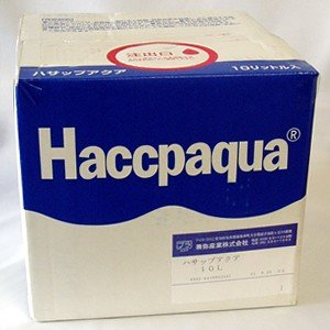 除菌水 消臭 消毒 次亜塩素酸ナトリウム pH調整済み ハサップアクア2000 濃縮タイプ 10リットル 同梱不可 正規販売代理店 関東甲信越地域以外は別途送料 hanamankai
