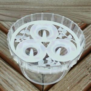水栽培 容器 ポット クロッカス 3球用 1鉢 小球根用 キット hanamankai