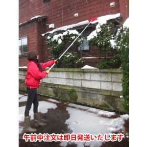 雪かき 道具 屋根 棒 おすすめ ひさし雪落とし 手の届かないところの除雪に 3.9m 1本 他品同梱不可 hanamankai