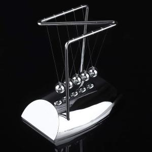 Salinr ニュートンバランス ボール ニュートンの揺りかご 玉 衝撃玉 ステンレス製 物理学振り子 科学 おもちゃ 永久運動 永久機関|hanamaru-store