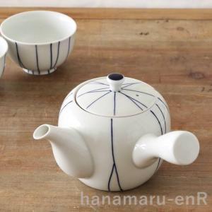 波佐見焼 白磁 急須 手描き線 重山陶器 茶こし付き 急須 ティーポット 日本製 北欧 食器 hanamaru-y