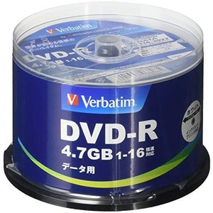 Verbatim バーベイタム 1回記録用 DVD-R 4.7GB 50枚 ホワイトプリンタブル 1-16倍速 片面1層 DHR47JP50 hanamaru-ya