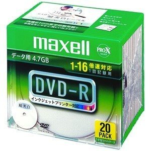 maxell データ用 DVD-R 4.7GB 16倍速対応 インクジェットプリンタ対応ホワイト(ワイド印刷) 20枚 5mmケース入 DR hanamaru-ya