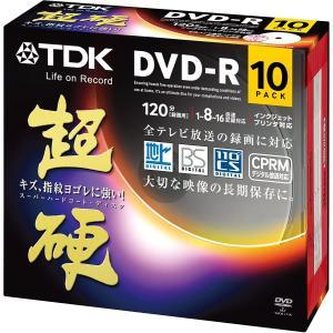 TDK 録画用DVD-R CPRM対応 16倍速対応 ホワイトワイドプリンタブル キズや指紋ヨゴレに強いスーパーハードコート・ディスク 「超 hanamaru-ya