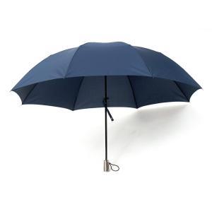 小宮商店 2段式 折りたたみ傘 2つ折り 二段折り 丈夫なグラスファイバー 超撥水 テフロン 60cm(紺)|hanamaru-ya