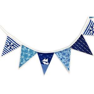 フラッグガーランド NO.5 マリン・ヨット (フラッグ90×115mm 16枚連続 全長2800mm) ミニ三角連続旗|hanamaru-ya