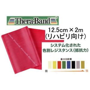 セラバンド(THERABAND) トレーニングチューブ バンドタイプ 2m TBB-2 レッド 強度レベル0 hanamaru-ya