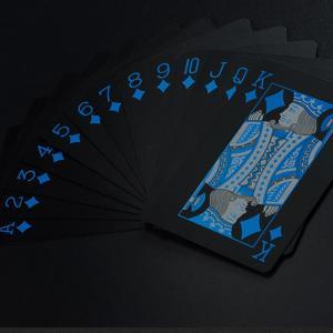 トランプ 一つデック黒い色 防水樹脂製 フレックスカード 楽しいように 並行輸入品 hanamaru-ya