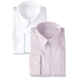 セシール ブラウス 形態安定シャツ 2枚組 レギュラーカラー 7分袖 AX-287 レディース B 日本 M-(日本サイズM相当)|hanamaru-ya