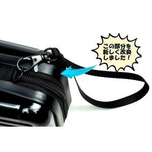 ビッグツリー 2way 多機能 ショルダーポーチ ミニ スーツケース型 コンパクト ハード ケース 全4色 (ブラック) hanamaru-ya