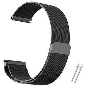 AIGENIU 時計バンド マグネット式のあるステンレス ミラネーゼループ 腕時計バンド 取付幅22mmのスマートウォッチと伝統的な腕時計交|hanamaru-ya