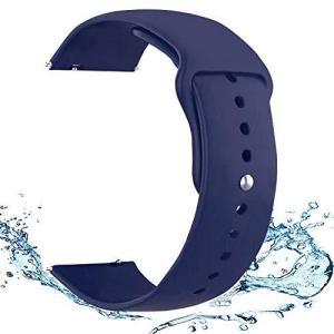 20mm 22mm時計バンド 簡単に取り付け取り外しの防水柔らかいシリコンスポーツ交換バンドスマートウォッチ交換用バンド 交換ベルト スポー|hanamaru-ya