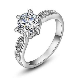Acefeel(エスフィール)K18RGP cz ダイヤ 婚約指輪 レーディス 1.5ct プロポーズ リング プレゼント ホワイトゴールド|hanamaru-ya