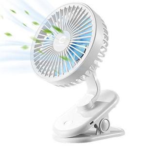 Dstper 扇風機 usb 卓上扇風機 首振り 充電式 強風 静音 ミニ扇風機 長時間連続使用 小型 壁掛け 省エネ クリップ おでかけ hanamaru-ya