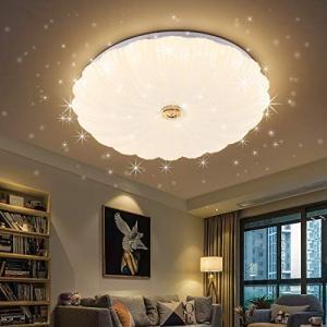 LED シーリングライト 星空効果 35W 8~10畳 3段階調色 白色 電球色 昼光色 天井ライト インテリア リビング 照明器具 和風|hanamaru-ya