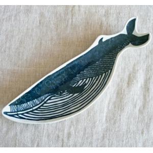 倉敷意匠 印判手 長皿 KATA KATA クジラ 94722-10|hanamomimo-zakkaten