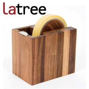 Latree DEN  デン テープカッター しかく ウォルナット|hanamomimo-zakkaten