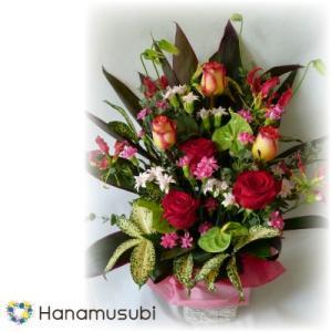 ワンサイドアレンジメント M レッド系 hanamusubi333