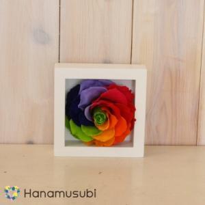 プリザーブドフラワー ギフト 「セブンラックローズの壁掛け S」全2色 hanamusubi333