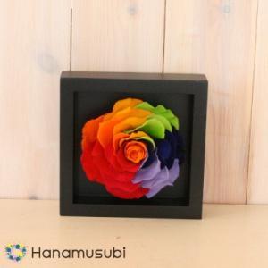 プリザーブドフラワー ギフト 「セブンラックローズの壁掛け M」全2色 hanamusubi333