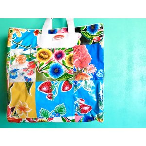 【35%OFF価格】KITSCH KITCHEN パッチワーク マーケットバッグ - C|hananoco-bazaar