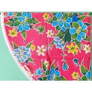 【30%OFF価格】KITSCH KITCHEN ラウンドテーブルクロス - Fortin Pink|hananoco-bazaar