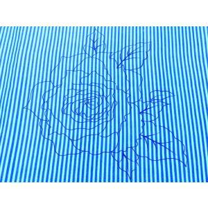 タイ・レトロ花柄生地 / ストライプ×ローズ / W119×60cm|hananoco-bazaar