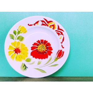 タイ・ホーロー皿 - Φ20.5cm|hananoco-bazaar