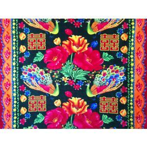 ベトナム・ベロア生地 / グリーン / W160cm×57cm|hananoco-bazaar