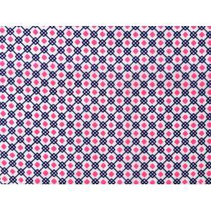 ベトナム・化繊生地 ダイアモンドチェック / ピンク|W87×79cm|hananoco-bazaar