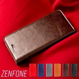 セール ZenFone5 ケース 手帳型 牛革 レザー ZenFone5Z ZenFone5Q Ze...