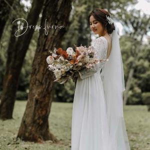 ウエディングドレス 結婚式 二次会 エンパイア バックコンシャス ウエディング ドレス|hanashop
