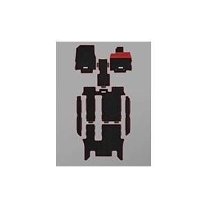 MUGEN(無限) スポーツマット ブラック×レッド 2列目キャプテンシート用 ステップワゴン RP1/RP2/RP3/RP4 2017/09- 品番:08P15-XNB-K0S0-RD|hanatora