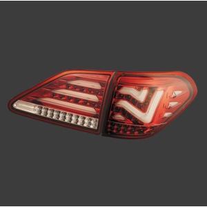 METEO(メテオ) LEDテールランプ レクサス RX270/RX350/RX450h GGL、GYL、AGL10系 H21年1月〜 クリア・レッドクローム [テールランプ] LX-GYL09-CR|hanatora