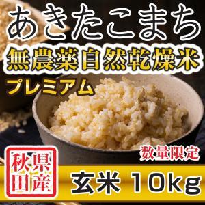 【新米予約】 玄米 令和3年産新米 秋田県産 あきたこまち 無農薬自然乾燥プレミアム 10kg 農家直送|hanatsukafarm
