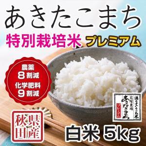 30年産新米 秋田県産 あきたこまち 特別栽培プレミアム 白米 5kg  慣行栽培比 農薬8割減、化学肥料9割減 農家直送|hanatsukafarm