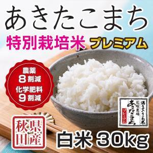 30年産新米 秋田県産 あきたこまち 特別栽培プレミアム 白米 30kg  慣行栽培比 農薬8割減、化学肥料9割減 農家直送|hanatsukafarm